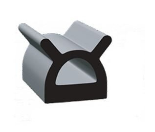 "Clean Seal 9187ST-50 0.695"" x 0.56 EDPM D Seal With Heat Activated Tape"