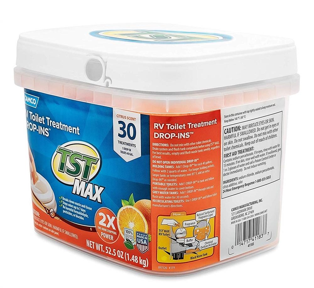 Camco 41183 Tst Max Citrus Scent Rv Drop Ins 30 Pack
