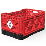 Big Ant IP543630R Heavy-Duty Medium Collapsible Smart Crate - Red