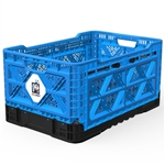 Big Ant IP543630B Heavy-Duty Medium Collapsible Smart Crate - Blue