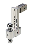 "Fastway DT-STBM6800 Adjustable Solid Tow Trailer Hitch Ball Mount - 8"" Drop, 9"" Rise"