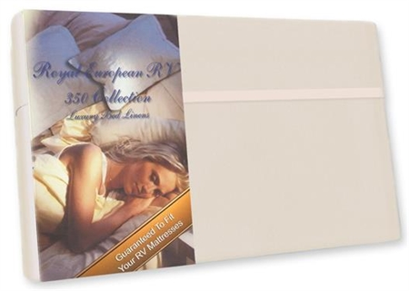 "Custom Recreational RV34X75/SW Custom RV Bunk Sheet Set 350 Thread Count Satin White 34"" x 75"""