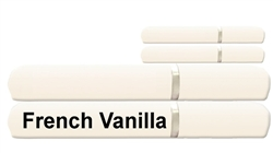 "Custom Recreational RV49X75/FV Custom RV Dinette Sheet Set 200 Thread Count French Vanilla 49"" x 75"""