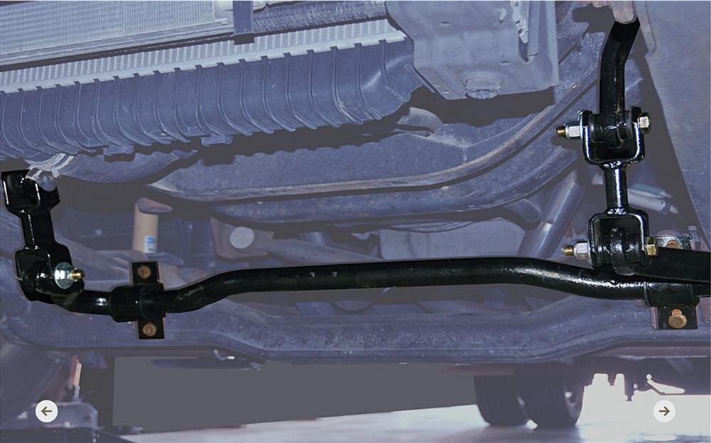Blue Ox TH7253 Rear Sway Bar Dodge/Freightliner/Mercedes Sprinter 2500 07-14