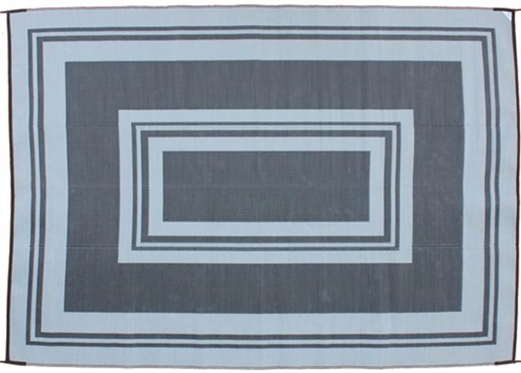 Reversible Patio Mats 371 5u0027 X 8u0027 Classic Border Black And Gray Patio Mat