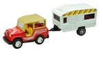 RV Die Cast Collectible, Jeep And Trailer