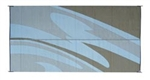 Reversible Patio Mats 065 8' X 16' Silver Gold Swirl