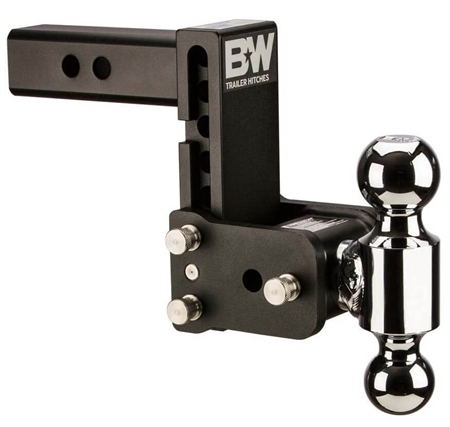 "B&W TS20037B Tow & Stow Dual-Ball Trailer Hitch Mount - 5"" Drop - 4-1/2"" Rise"