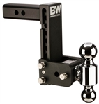 "B&W TS20040B Tow & Stow Dual-Ball Trailer Hitch Mount - 7"" Drop - 7-1/2"" Rise"
