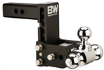 "B&W TS20048B 5"" Drop Tow & Stow Tri-Ball Mount 2.5"" Shank"