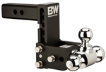 "B&W TS20049B Tow & Stow Tri-Ball Trailer Hitch Mount - 7"" Drop - 7-1/5"" Rise"