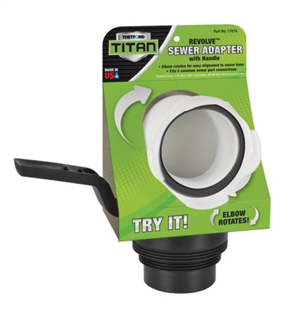 Thetford Titan Revolve RV Sewer Adapter with Handle