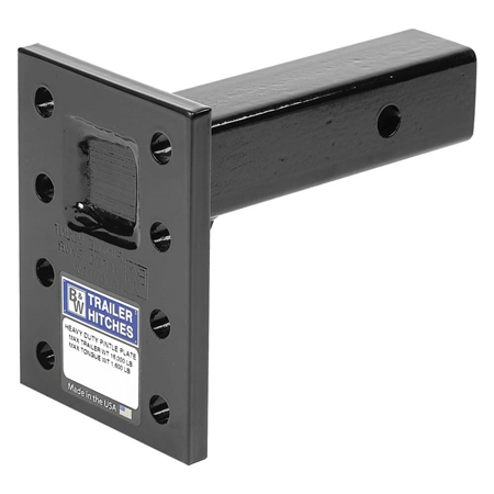 "B&W Hitches PMHD14202 Heavy Duty Pintle Mounting Plate - 8 Hole - 2.5"" x 9"" Shank"