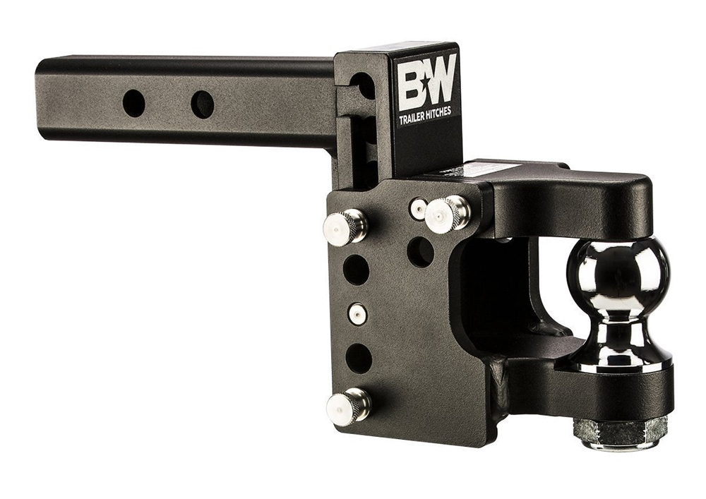 2 Ball Hitch >> B W Hitches Ts20055 Tow And Stow Pintle Hitch With 2 Ball 8 1 2 Drop 4 1 2 Rise
