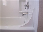 Golden Ideas 4TT-W White Tub Tender Splash Guard