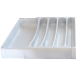 Camco 43503 Adjustable RV Cutlery Tray - White