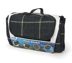 Camco 42800 Picnic Blanket Black & Yellow