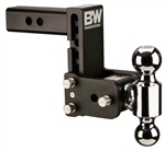 "B&W TS10038B 5"" Drop Tow & Stow Dual-Ball Mount"