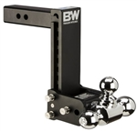 "B&W TS10050B 9"" Drop Tow & Stow Tri-Ball Mount"