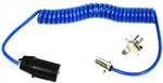 Blue Ox BX88254 7-Way To 4-Way Coiled Electrical Trailer Cable