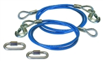 "Roadmaster 645 Single Hook Trailer Safety Cables - 64"" - 6000 Lbs"