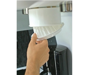 Space Saving RV Coffee Filter Dispenser