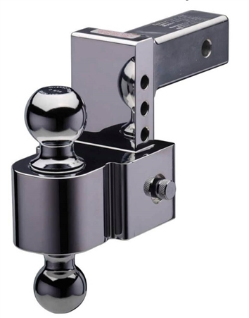 "Fastway E-Series Adjustable Pin Style Ball Mount - 4"" drop / 5"" rise"