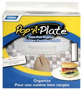 Camco 57001 Pop-A-Plate Dispenser - White