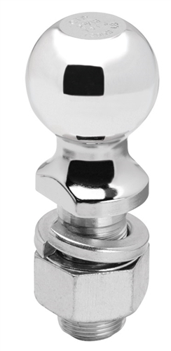 "Draw-Tite 63830 2"" Chrome Hitch Ball 1-1/4"" Shank Dia, 2-3/4"" Shank Length - 8000 Lbs"