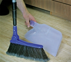 Camco 43623 Adjustable RV Broom with Dust Pan