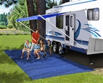 Prest-O-Fit 2-1171 RV Patio Rug - Imperial Blue - 8' x 20'