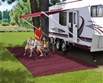 Prest-o-Fit 2-1174 RV Patio Rug - Burgundy Wine - 8' x 20'