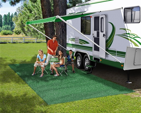 Prest-O-Fit 2-0150 RV Patio Rug - Green - 6' x 15'