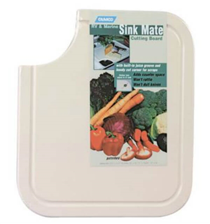Camco 43857 Sink Mate Cutting Board, White