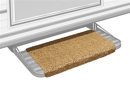 "Prest-o-Fit 2-0049 Wraparound 18"" RV Step Rug - Harvest Gold"