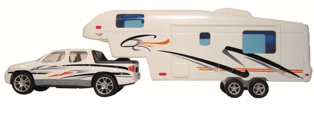 1c5932f206 Prime Products 27-0020 Pick Up Truck And 5th Wheel RV Die-Cast Collectible