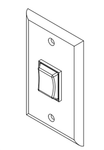 Lippert 140530 6 Prong Interior Switch With Wall Plate