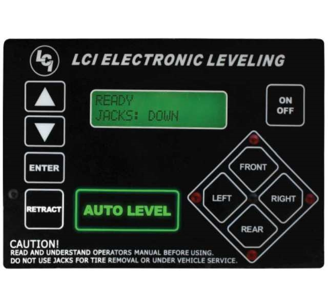 Lippert 358590 Ground Control 3 0 5th Wheel RV Leveling System With  Touchpad and Remote - 4 Point Set