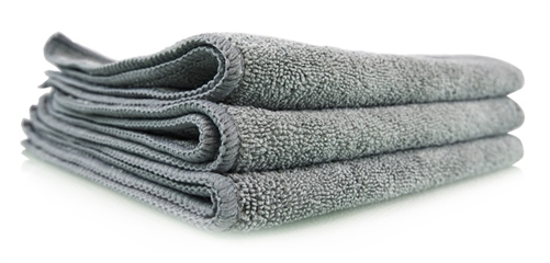 "Chemical Guys MIC35203 Workhorse Microfiber Towels - 16"" x 16"" - Gray - 3 Pack"