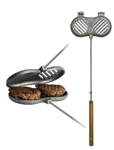 Rome Industries 1525 Double Burger Griller - Cast Iron