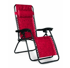 Camco 51813 Regular Zero Gravity Recliner - Red Swirl