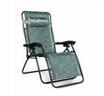 Camco 51830 Large Zero Gravity Recliner - Black Swirl