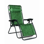 Camco 51831 Large Zero Gravity Recliner - Green Swirl