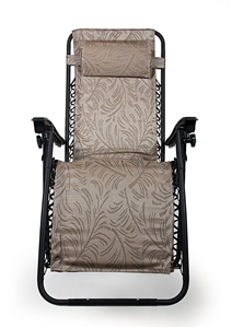 Camco 51832 Large Zero Gravity Recliner - Tan Fern