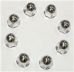 "Wheel Masters 8Pk 1"" Stainless Steel Lug Nut Covers"