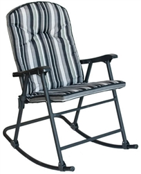 Prime Products Cambria Padded Rocker - Black, Gray and White