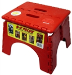 B&R Plastics 101-6R E-Z Foldz Red Step Stool - 11.5""