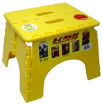 B&R Plastics 101-6Y E-Z Foldz Yellow Step Stool - 11.5""