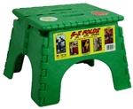 B&R Plastics 101-6FG E-Z Foldz Step Stool - Forest Green