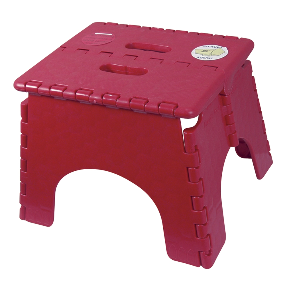 Admirable Br Plastics 101 6Burg E Z Foldz Burgundy Step Stool 11 5 Squirreltailoven Fun Painted Chair Ideas Images Squirreltailovenorg